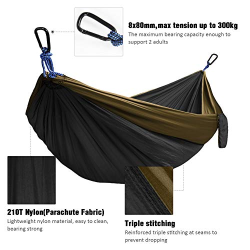Kootek Camping Hammock Double & Single Portable Hammocks