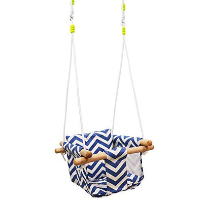 Baby Kids Canvas Hanging Swing with Soft Cotton Cushions