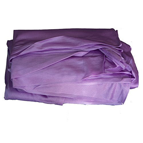 Wellsem Deluxe L:5.5 Yards W:3 Yard Yoga Flying Swing Aerial Yoga Hammock Silk Fabric for Yoga Bodybuilding(5mx2.8m) (Lavender)