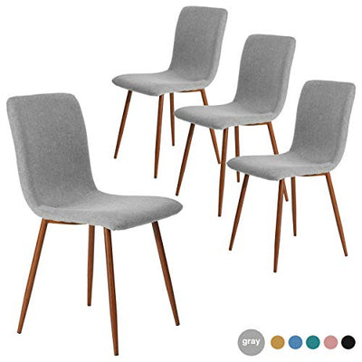Dining Chairs Set of 4 Modern Dining Room Side Chairs with Fabric Cushion
