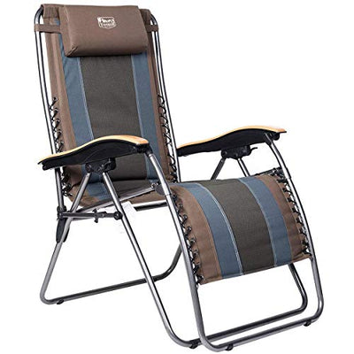 Zero Gravity Chair Oversized Padded Folding Patio Lounge Chair