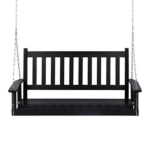 Maine Porch Swinging Bed: Black