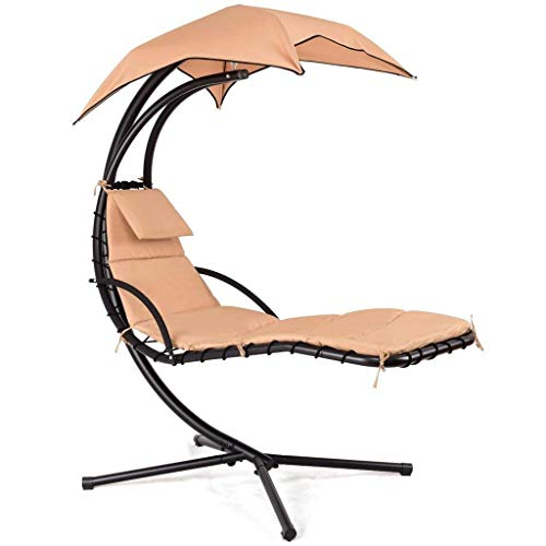 Hanging Hammock Chair Lounge Swing: Khaki