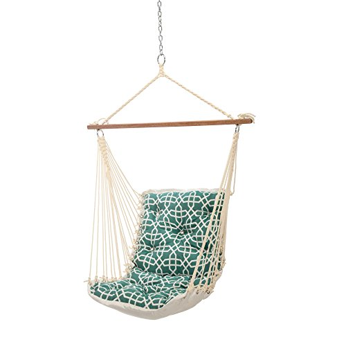 Hatteras Hammocks Sunbrella Tufted Single Swing - Bevel Lagoon