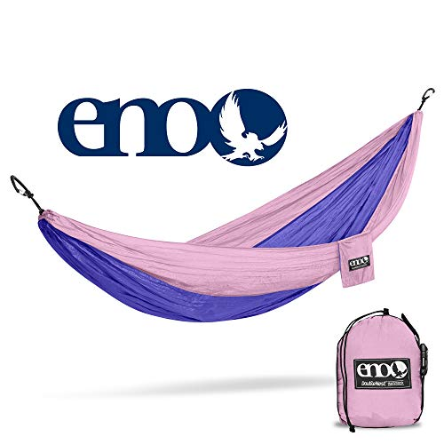 ENO - Eagles Nest Outfitters DoubleNest Lightweight Camping Hammock, 1 to 2 Person, Lavender/Violet