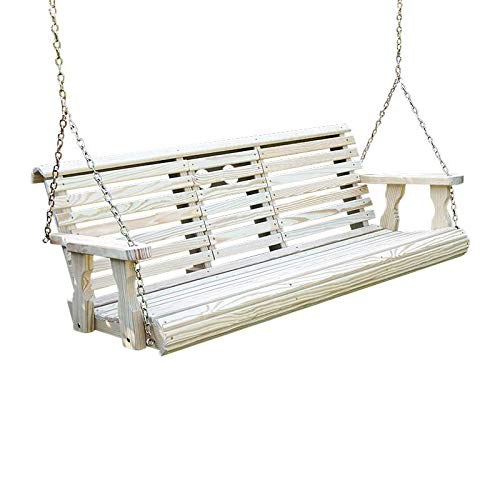 Heavy Duty 800 Lb Rollback Console Treated Porch Swing With Hanging Chains (Unfinished)