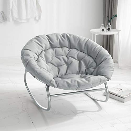 Urban Shop Rocking Saucer Chair, Grey