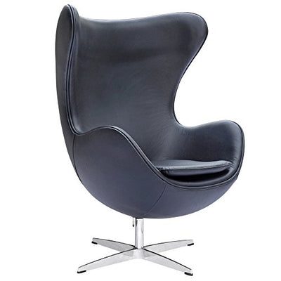 Fine Mod Inner Leather Chair, Black