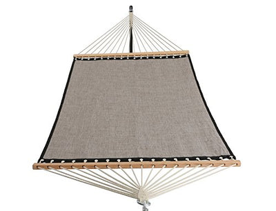Patio Watcher 11 FT Quick Dry Hammock Bamboo Wood Spreader Bars Outdoor Patio Yard Poolside Hammock with Chain Hanging Kits and Hooks, Waterproof and UV Resistance,Mocha