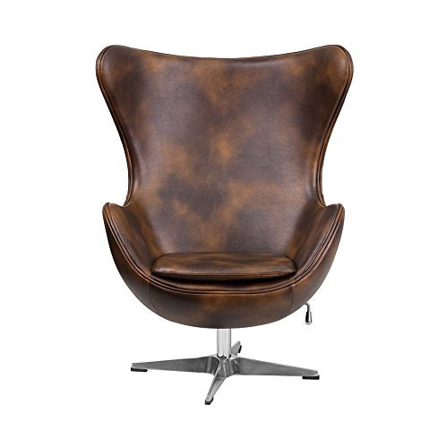 Outstanding Leather Egg Chair With Tilt Lock Mechanism Ibusinesslaw Wood Chair Design Ideas Ibusinesslaworg