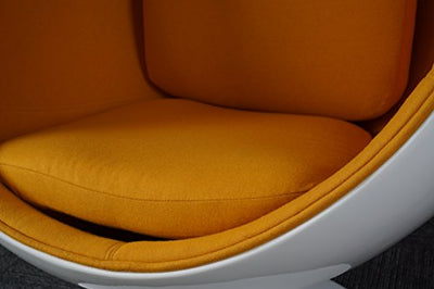 Simple Modern Fashion Style Living Room Ball-Style Fiberglass Chair (Orange)