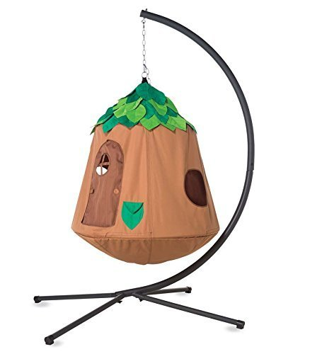 Woodland HugglePod Hangout : Hanging Play Tent Special with Crescent Stand