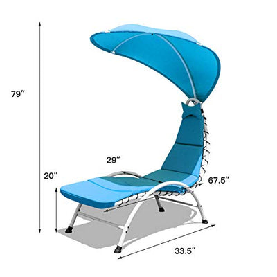 Giantex Hanging Chaise Lounger Chair