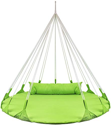 Sorbus Hanging Swing Nest with Pillow: Green