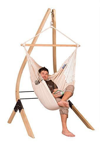 Organic Cotton Basic Hammock Swing Chair with Spruce Stand: Latte