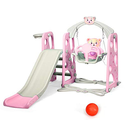 Costzon 4 in 1 Toddler Climber and Swing Set