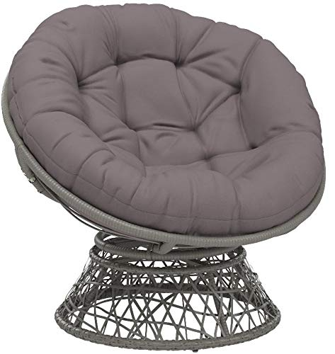 OSP Home Furnishings Papasan Chair with 360-degree Swivel