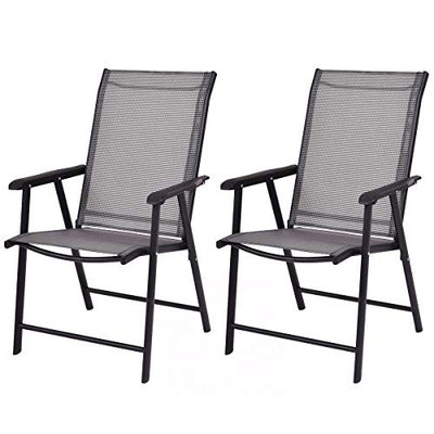 Giantex 2-Pack Patio Folding Chairs Portable for Outdoor Camping