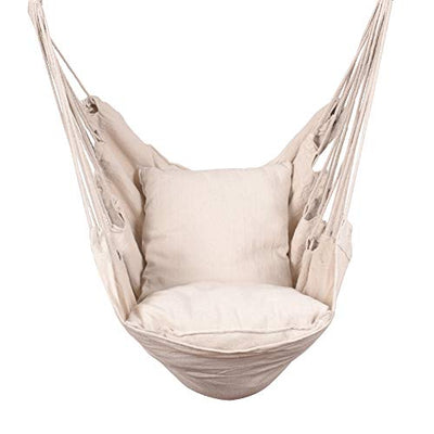 Hammock Chair Swing Seat with Two Seat Cushions and Carrying Bag