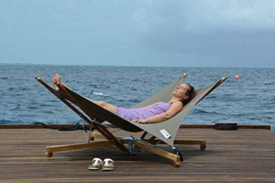 Kajito Luxury Deck Chair: Grey