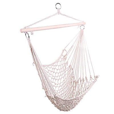 OnCloud Hammock Chair Cotton Hanging Rope Air/Sky Chair Swing for Indoor Outdoor