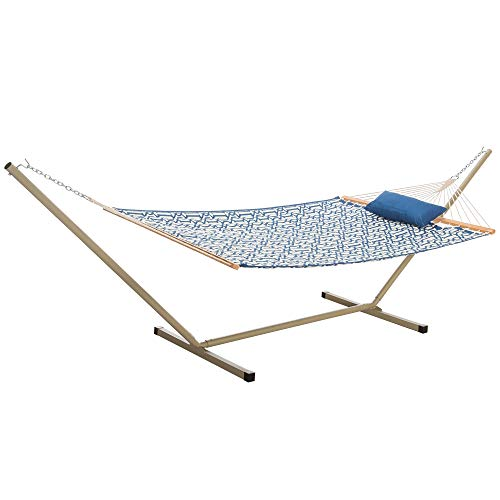 Castaway Hammocks Quilted Hammock Combo with 12 Foot Steel Portable Stand & Pillow