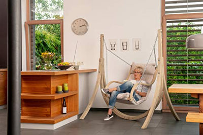 BYER OF MAINE Globo Fat Chair and Stand Combo: Natural