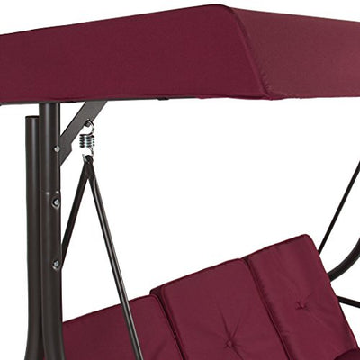 Best Convertible Patio Swing Chair for 3 Person with Canopy