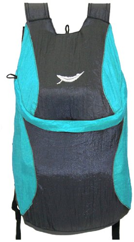 Trek Light Gear Ultralight Bindle Daypack - The Best Lightweight 14L Backpack - Made from Ultra Strong & Durable Parachute Nylon - Great for Travel, Hiking, Camping & School - Packs Down to 3.5oz Pouch {Aqua/Charcoal}