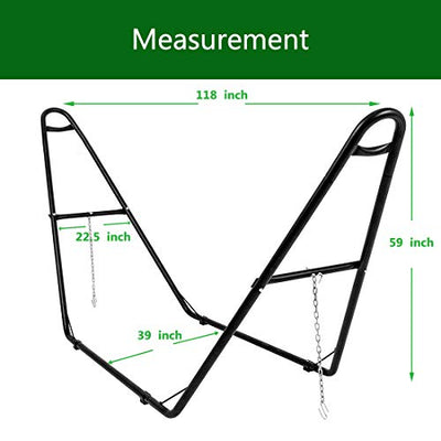Zupapa 550LBS Capacity Universal Multi-Use Steel Hammock Stand, 2 Person, Fits Hammocks 9 to 14 Feet Long, Adjustable Heavy Duty Hammock Frame