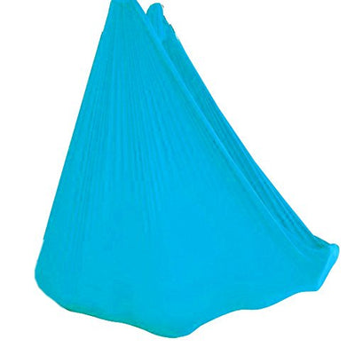 Wellsem Deluxe L:5.5 Yards W:3 Yard Yoga Flying Swing Aerial Yoga Hammock Silk Fabric for Yoga Bodybuilding(5mx2.8m) (Sky Blue)