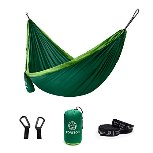 Portson Double Hammock with Tree Friendly Straps