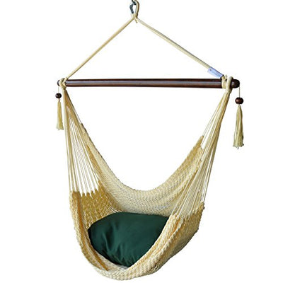 Caribbean Hammocks Chair with Footrest: Cream