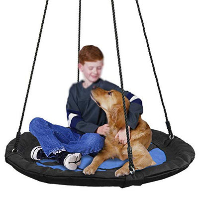 Waterproof Saucer Tree Swing Set for Kids, Adults and Teens - Blue/Purple