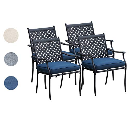 Top Space 4 Piece Metal Outdoor Wrought Iron Patio Furniture