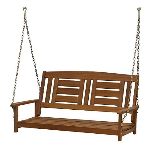 Hardwood Hanging Porch Swinging bed, 2-Seater Without Frame