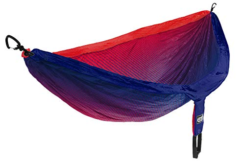 ENO, Eagles Nest Outfitters DoubleNest Print Lightweight Camping Hammock, 1 to 2 Person, Fade Red/Sapphire