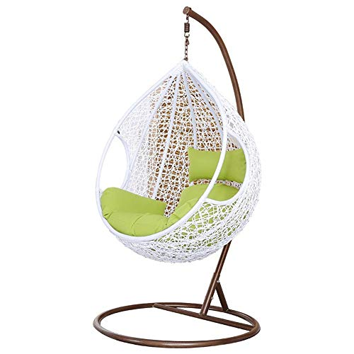 Fabulous Rattan Hanging Swing Chair Rattan Wicker Weave Design Hanging Rocking Chair Up To 150 Kg Suitable For Greenhouses Balconies Patios And Gardens Bralicious Painted Fabric Chair Ideas Braliciousco