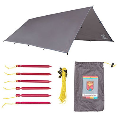 Sanctuary SilTarp - Ultralight and Waterproof Ripstop Silnylon Rain Shelter Tarp