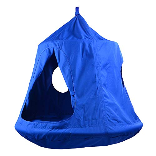 Waterproof Hanging Tent by TopEva with Led Decoration Lights: Blue