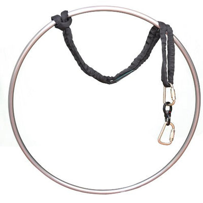 "runner deer Complete Lyra/Aerial Hoop/Aerial Rings Set,Include lyra,carabiners, Swivel, and spanset (31""(80), Tabless)"
