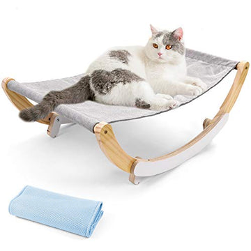 Odoland Cat Hammock Bed with Pet Bed Spare Blanket