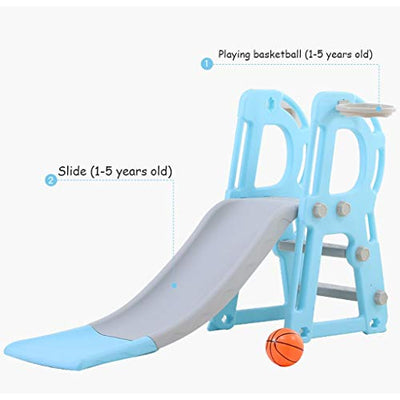 A-free 6-in-1 Toddler Slide and Swing Set