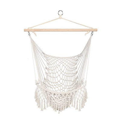 Sling Chairs Cotton Rope Sling with Tassel Beige