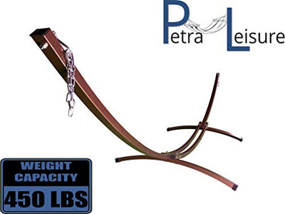 Petra Leisure 15 Ft Indoor/Outdoor Powder Coated Galvanized Steel Arc Hammock Stand. Strongest Supports Single/Double Hammock Bed.(Bronze)