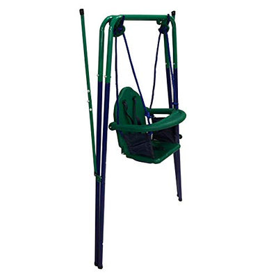 Toddler Indoor Outdoor Swing Blue and Green
