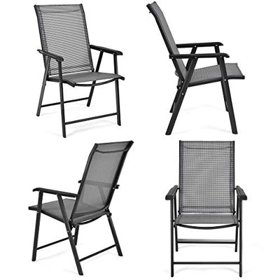 Giantex 4-Pack Portable Patio Folding Chairs