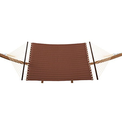 Classic Accessories Montlake Reversible Double Hammock with Wood Stand, Heather Henna