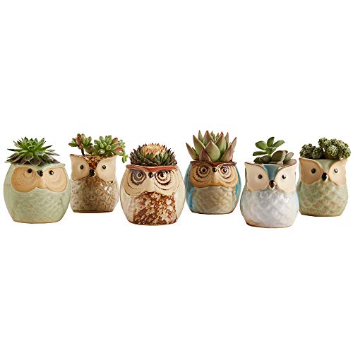 Owl Pot Ceramic Flowing Glaze Base Serial Set