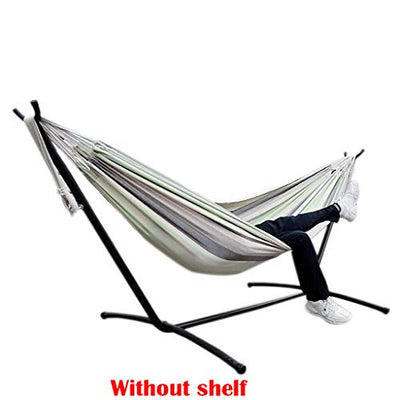 Voberry Camping Hammock Double & Single Portable Stripes Hammocks